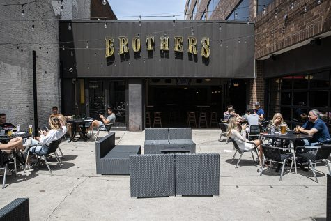 Brothers patio is seen on May 15, the first day Johnson County restaurants were allowed to reopen at limited capacity.