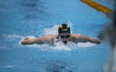 Iowa's Kelsey Drake competes in the 200 yard butterfly during the last session of the 2020 Women's Big Ten Swim and Dive Championship on Saturday, Feb. 22, 2020 at the Campus Recreation and Wellness Center. Ohio State won the championships with an overall score of 1503.5. Drake placed 12th overall with a time of 1:58.54.