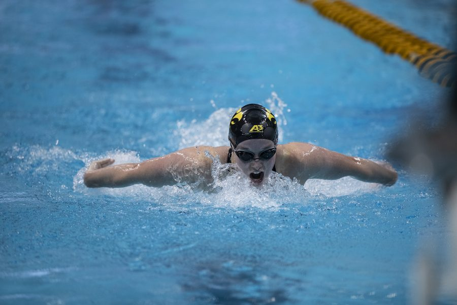 Iowa%E2%80%99s+Kelsey+Drake+competes+in+the+200+yard+butterfly+during+the+last+session+of+the+2020+Women%E2%80%99s+Big+Ten+Swim+and+Dive+Championship+on+Saturday%2C+Feb.+22%2C+2020+at+the+Campus+Recreation+and+Wellness+Center.+Ohio+State+won+the+championships+with+an+overall+score+of+1503.5.+Drake+placed+12th+overall+with+a+time+of+1%3A58.54.