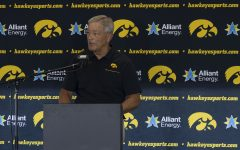 Iowa head coach Kirk Ferentz speaks at a press conference on Thursday, July 16, 2020 at the Pacha Family Club Room in Kinnick Stadium. Ferentz discussed the upcoming football season and the continuing actions that the team is working on toward strengthening inclusivity in the program. (Hannah Kinson/ The Daily Iowan)