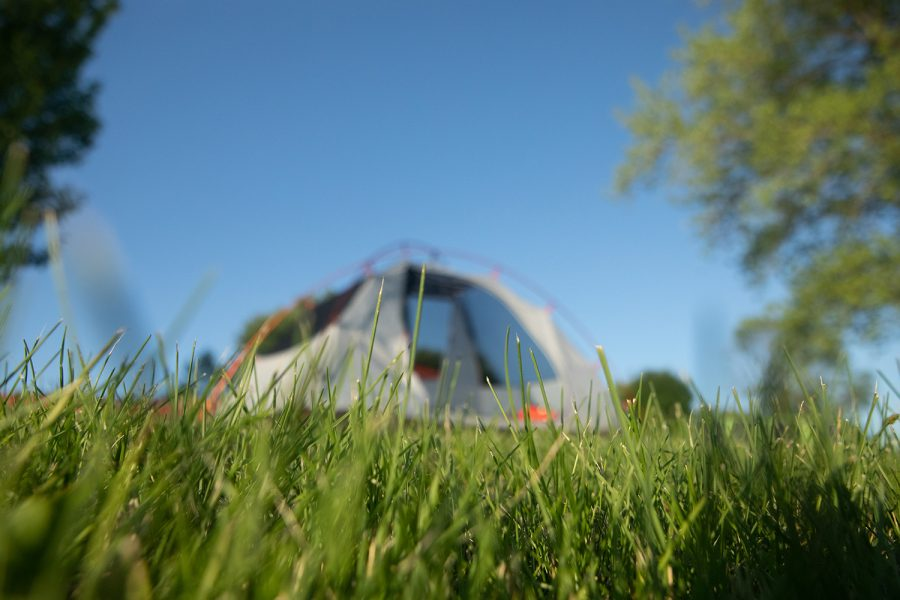 A+tent+sits+along+the+Iowa+River+on+June+10%2C+2019.