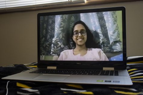 Aasthika Das, an incoming UI sophomore and biology major, poses for a portrait through a zoom call on Sunday, July 12, 2020 from her home in India.