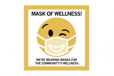 A graphic encouraging community members to wear masks, contributed by Dr. David Krupp.