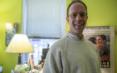 University of Iowa Counseling Services Director Barry Schreier is seen in his office at the Westlawn Building on December 12, 2019. Schreier recently was awarded the Association of University and College Counseling Center's President's Award for Meritorious Service in the National Field of Campus Mental Health.