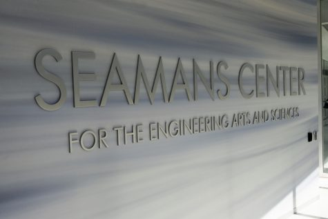The inside of the Seamans Center is seen on Friday, July 12, 2019. The building houses the UI College of Engineering.