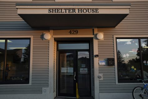 The entrance to Shelter House is seen on Wednesday, July 15 2020 in Iowa City. (Jake Maish/The Daily Iowan)