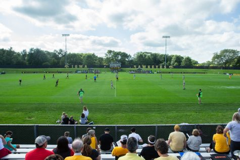 Fan watch during Iowa