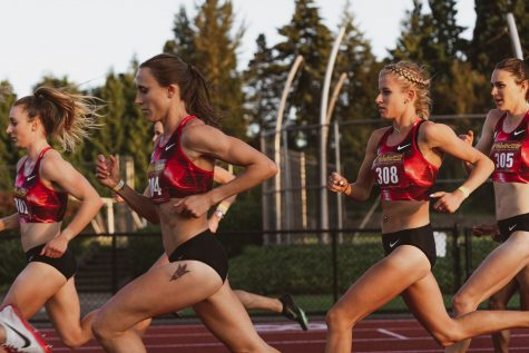 Former Sioux City East High School prep Shelby Houlihan competes in an event. Houlihan broke her own American record in the 5k on July 10, 2020. Contributed by Cortney White.