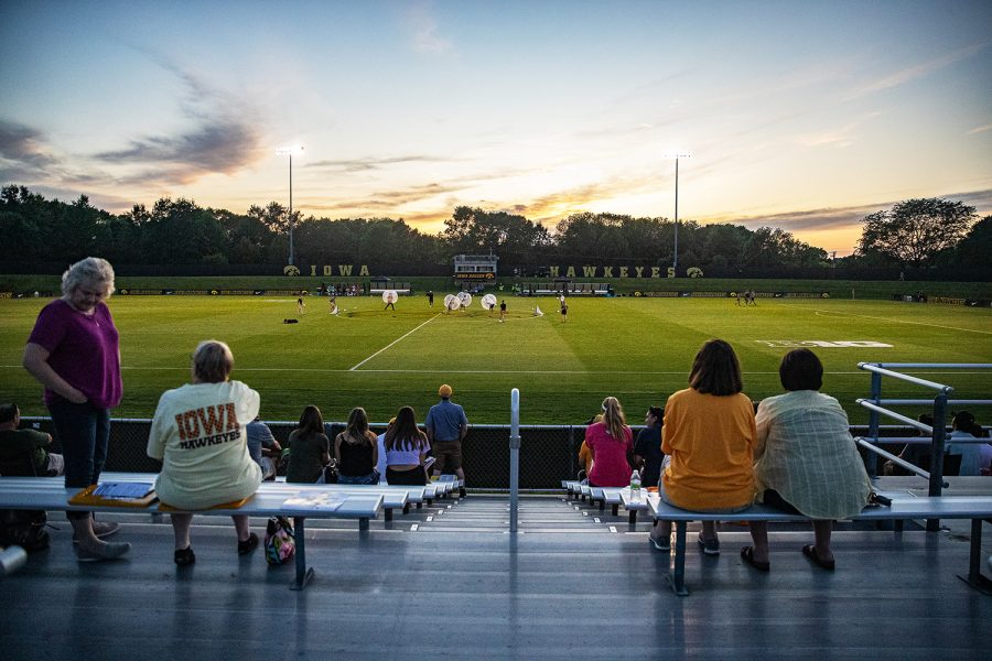 The Iowa Soccer Complex is seen during a women's soccer match between Iowa and Western Michigan on Thursday, August 22, 2019. The Hawkeyes defeated the Broncos, 2-0. (Shivansh Ahuja/The Daily Iowan)