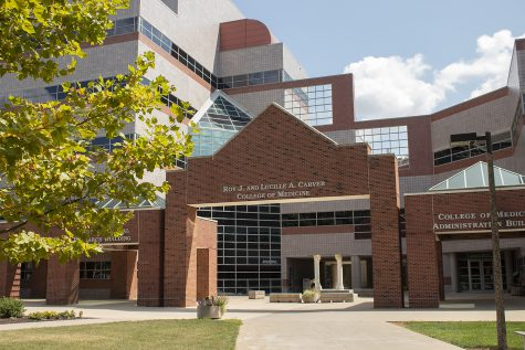 The Roy J. And Lucille A. Carver College of Medicine pictured on August 27. 2020. The University of Iowa celebrates Carver's 150th anniversary.