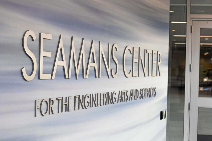 The Seamans Center is seen on Tuesday, August 25th, 2020. The engineering department recently was approved for a grant that allows the department to study the effects of off-campus learning on students.