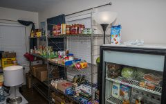 The West Side Food Pantry is seen in the University of Iowa Pride Alliance Center on Tuesday, Feb. 25, 2020. The pantry is about to celebrate its first year in the Pride Alliance Center.
