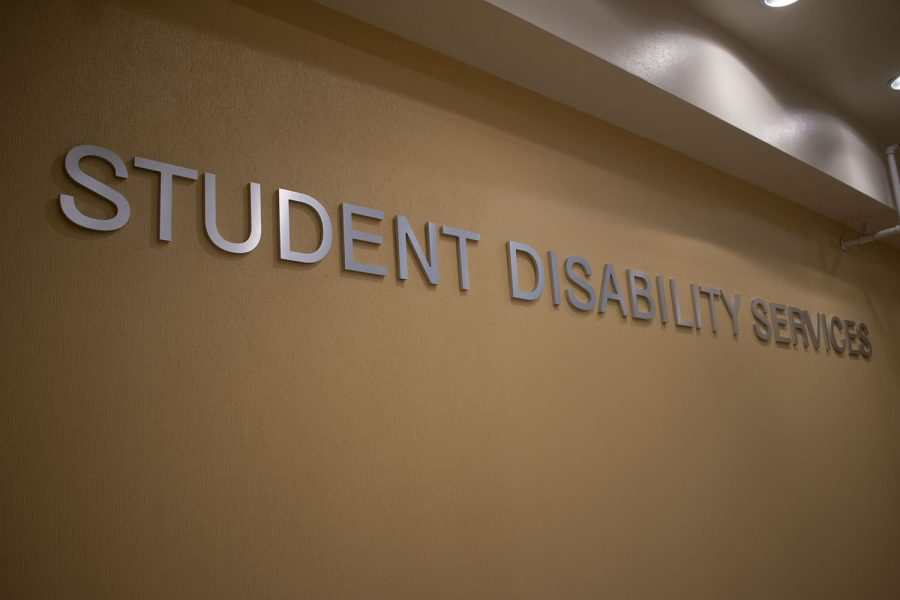 University of Iowas student Disability Services Office is seen on September 3, 2020.