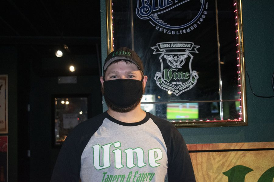 Brock Dixon, the General Manager of the Iowa City Vine, is seen on Tuesday September 8, 2020.