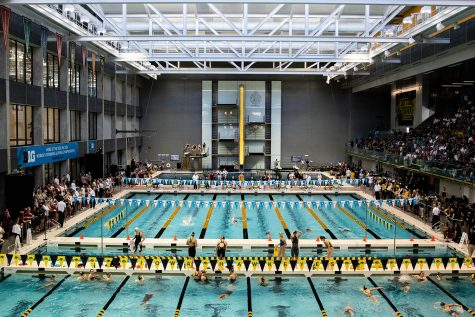 Swimmers compete during the second session of the the 2020 Big Ten Women