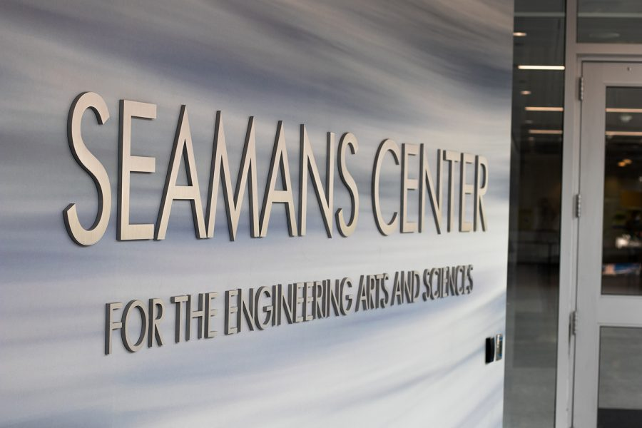 The Seamans Center is seen on Tuesday, Aug. 25, 2020. The engineering department recently was approved for a grant that allows the department to study the effects of off-campus learning on students.