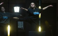Skyler Gibbons, a member of the UI Dance Club, performs at the SHOUT event on October 17, 2019.