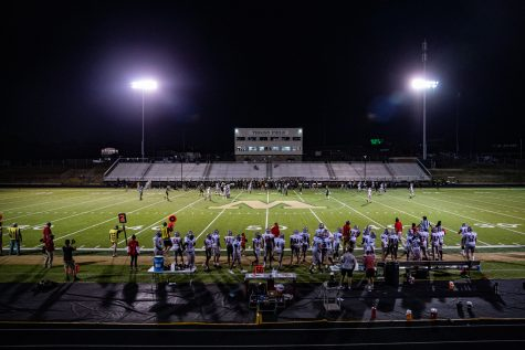 Action is underway during a football game between Iowa City West and City High on Friday, Sept. 4, 2020.