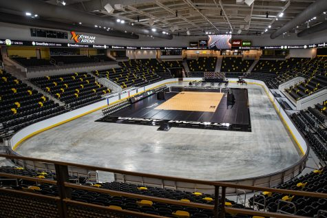 The main floor is seen during Xtream Arena's opening media tour in Coralville on Wednesday, Sept. 9, 2020.