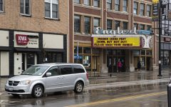 The Englert Theater is seen closed early during the quarantine on Wednesday, March 18th, 2020. Iowa City is under a mass quarantine due to the Coronavirus and is taking precautionary measures to minimize risk of spreading the disease.