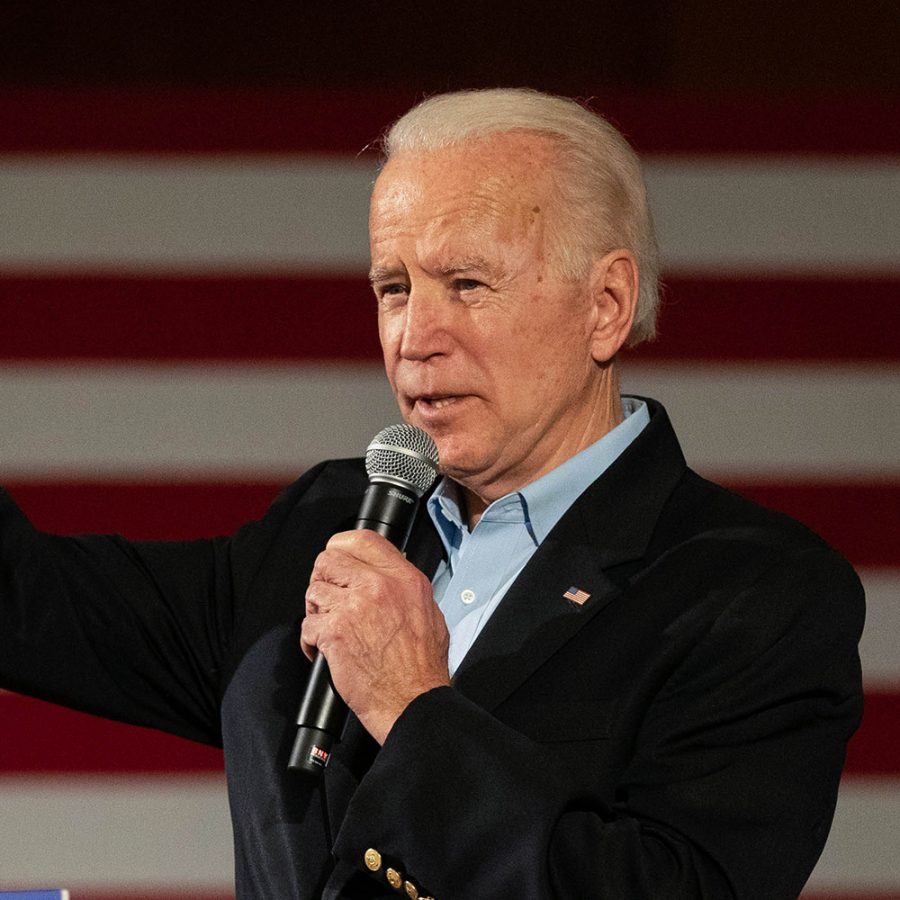 Former Vice President Joe Biden speaks during a rally at the Iowa Memorial Union on Monday January 27, 2020.