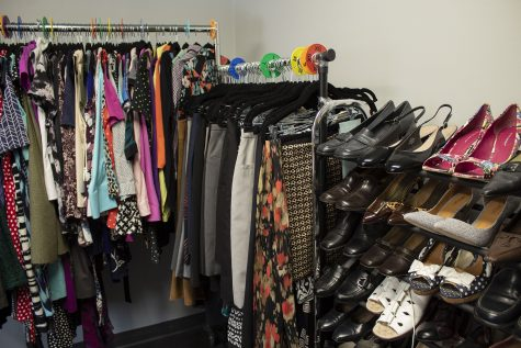 The Clothing Closet, a resourceful place for students to find professional attire, is pictured on Oct. 19, 2020. The Clothing Closet is adjusting its normal routine due to COVID-19 with shorter hours, masks and social distancing, and appointments that must be made 24 hours in advance.