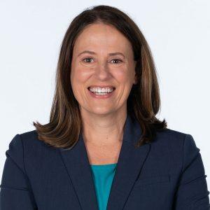 Portrait of U.S. Senate candidate Theresa Greenfield.
