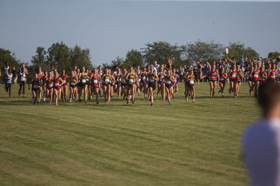 The women's 4k begins at the Hawkeye Invitational at Ashton Cross Country Course on Friday, September 6, 2019. Iowa State senior Abby Caldwell went on to win the race with a time of 14:02.0. The Hawkeyes defeated six other teams to finish first overall for both men's and women's races.
