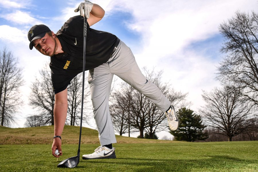 Iowa sophomore Alex Schaake poses for a portrait at Hoak Family Golf Complex on Tuesday, April 24, 2018.