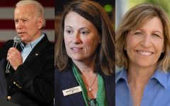 From left to right: 2020 Democratic Presidential candidate Joe Biden (Megan Nagorzanski/The Daily Iowan), Iowa Democrat Theresa Greenfield (Jerry Mennenga/Zuma Press/TNS), and former Iowa State Senator Rita Hart (contributed)