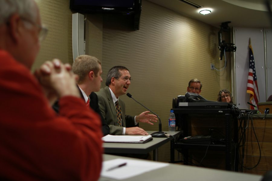 Sheriff Lonny Pulkrabek speaks during a meeting of the Criminal Justice Coordinating Committee in the Johnson County Administration Building in Iowa City, Iowa on Wednesday, November 7, 2012.