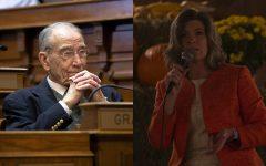 Photos of Sen. Chuck Grassley (Katina Zentz/The Daily Iowan) and Sen. Joni Ernst (Hannah Kinson/The Daily Iowan)
