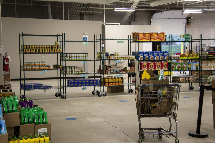 Items+in+the+warehouse+as+seen+on+Tuesday+Nov.10%2C2020.++Clients+have+different+choices+to+pick+from+at+the+food+pantry.