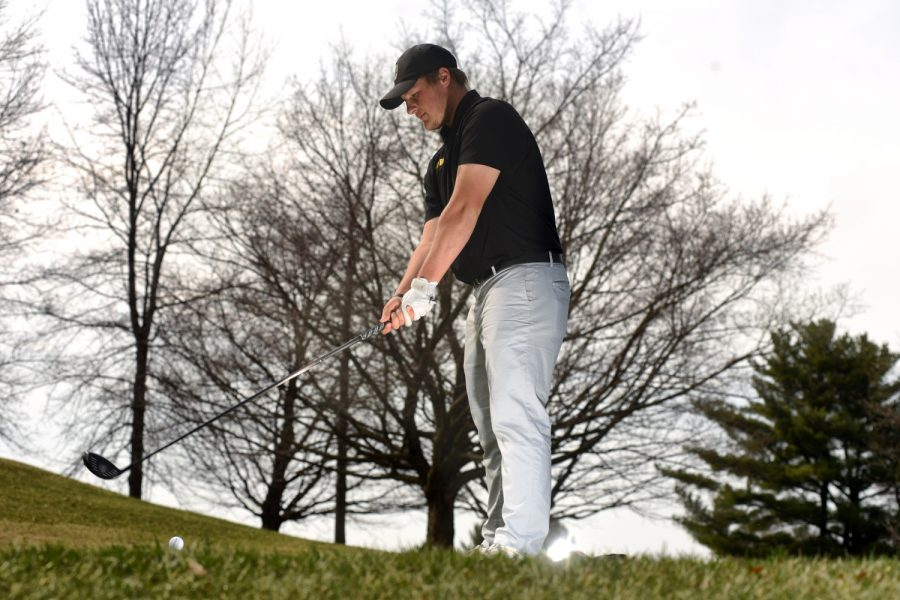 Iowa+sophomore+Alex+Schaake+poses+for+a+portrait+at+Hoak+Family+Golf+Complex+on+Tuesday%2C+April+24%2C+2018.