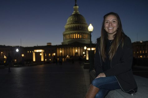 Alexia Sanchez poses for a portrait at the Capitol in Washington DC on Monday, Nov. 2, 2020.
