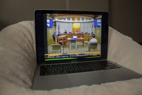 Johnson County holds a virtual meeting for the Board of Supervisors on Nov. 12, 2020.