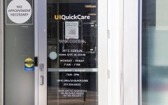 UI Quick Care, University Capitol Center, 201 S Clinton St. Testing entrance as seen on Monday Nov. 30, 2020.