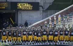 During the Iowa v Northwestern football game at Kinnick Stadium on Saturday, Oct. 31, 2020.  The Wildcats defeated the Hawkeyes 21-20.