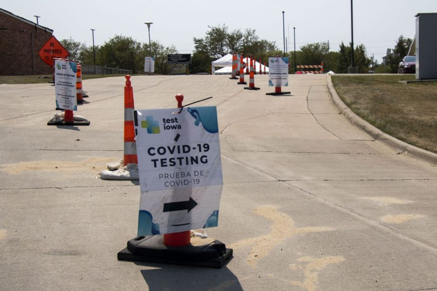 A Test Iowa site is seen on Wednesday, Aug. 26, 2020 at 5455 Kirkwood Blvd S.W. in Cedar Rapids.