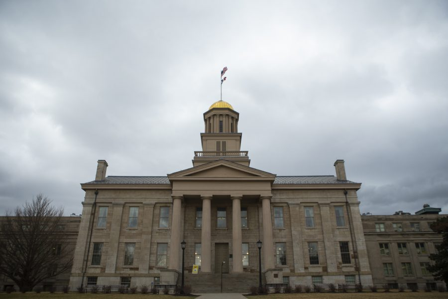 The Old Capitol is seen on Thursday, March 12, 2020.
