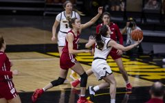 Iowa Guard Caitlin Clark goes in for a layup during a women's basketball game between Iowa and Wisconsin at Carver Hawkeye Arena on Saturday, December 5, 2020. The Hawkeyes defeated the Badgers 85-78.