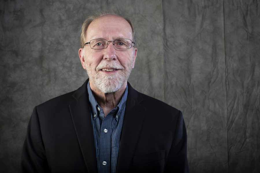 Representative Dave Loebsack stands for a portrait at the Daily Iowan newsroom on Sunday, September 23, 2018. (Nick Rohlman/The Daily Iowan)