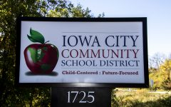 Iowa City Community School District sign 1725 North Dodge St. As seen on Thursday, Oct.15, 2020.