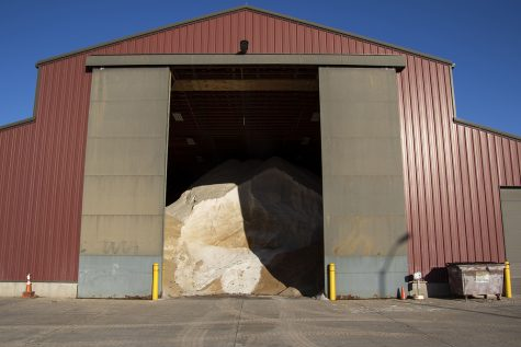 Iowa City's salt and sand barn ready for use, on Monday Nov. 30, 2020.
