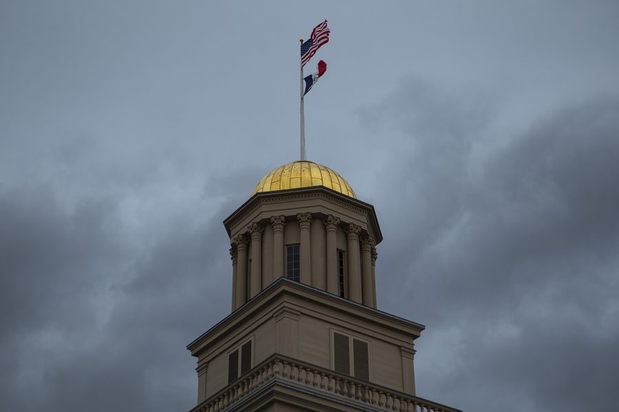The Old Capitol is seen on Thursday, March 12, 2020. (Jenna Galligan/The Daily Iowan)