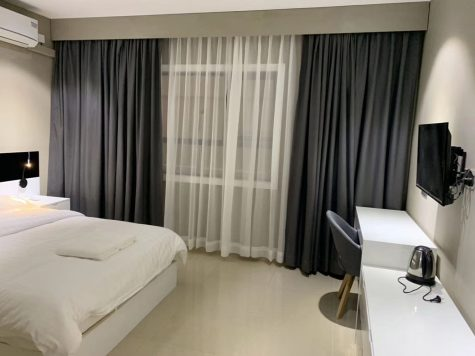 Ran Huo quarantine room is seen from her stay in Cambodia. (Contributed)