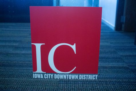 Iowa City Downtown District office front as seen on Sept. 2.