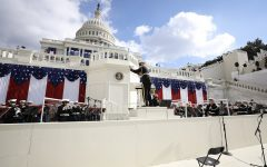 """""""The President's Own"""" United States Marine Band performs at the inauguration of President Joe Biden on Jan. 20, 2021."""