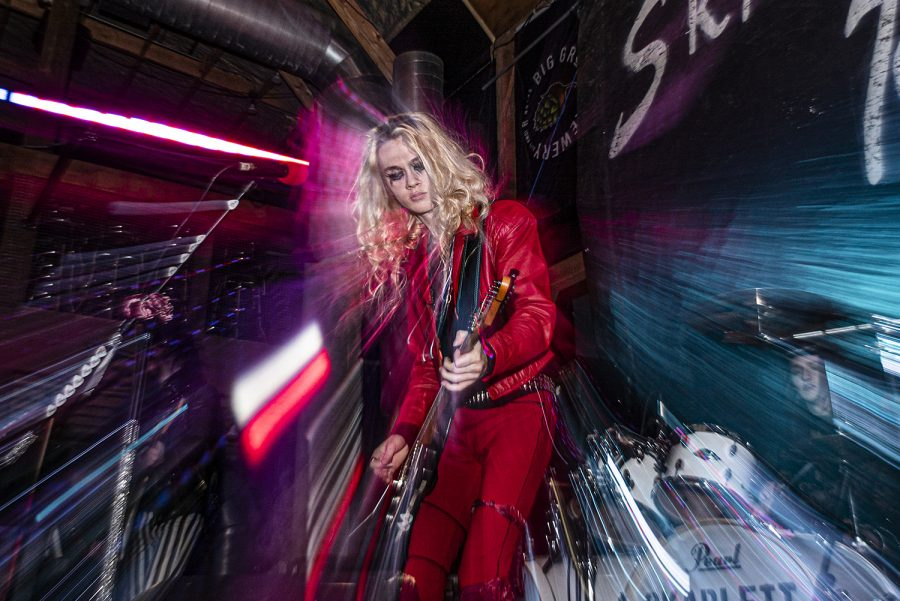 Skarlett Roxx performs at Wildwood Saloon on Saturday, January 30th, 2021. Skarlett Roxx is a band modeled on and influenced by eighties hair metal.