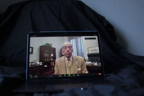 Sen. Chuck Grassley, R-Iowa, sits down for an interview with The Daily Iowan on Thursday, Jan. 21, 2020. Only a day after the inauguration of President Joe Biden, Grassley discussed upcoming work and the possible impeachment of former President Donald Trump.